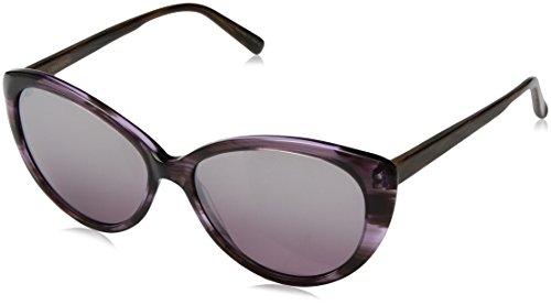 Vera Wang Women's V450 Cateye Sunglasses, Amethyst, 54 ()