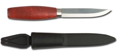 Mora Sweden Classic #1 Red Wood Handle Carbon Steel Knife, Outdoor Stuffs