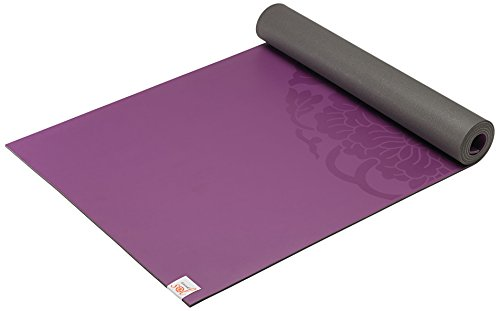 Gaiam Sol Dry-Grip Yoga Mat, Purple, 5mm