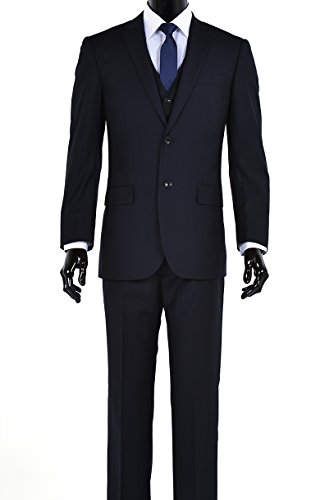 Wool 2 Button Italian Suit - 4