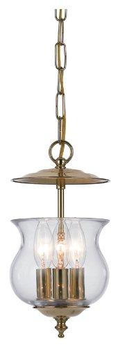 Ascott 3 Light Outdoor Foyer Lantern Finish: Polished Brass