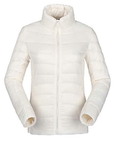 Cappotto Donne Delle Gocgt Bianco Packable Collare Piumino Basamento Leggera Isolante AwqSpWTvF