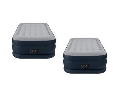 Paquete de 2 colchones dobles de aire, con descansos de almohada Intex Deluxe, +