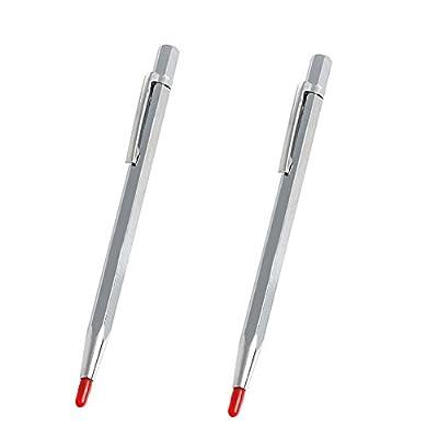 Vivian Tungsten Carbide Tip Scriber Etching Pen Carve Engraver Metal Tool Set of 2 PCS