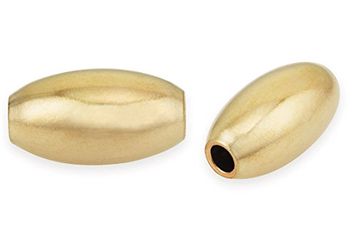 Bead Oval 4x6mm (20 Pieces 14K Gold Filled Oval Beads 4X6 mm)
