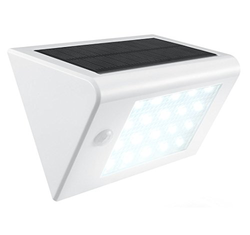 AVANTEK Solar Powered LED Wall Light with Motion Activated Sensor ...