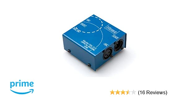 Hosa Technology ODL-312 Bi-Directional Optical S//PDIF to XLR AES//EBU Data Link