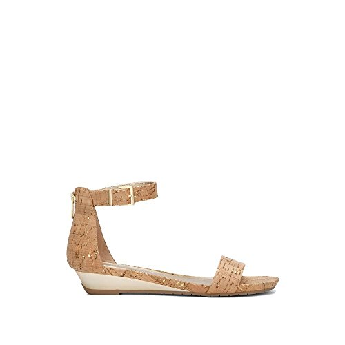 Kenneth Cole REACTION Women's Great Viber Ankle Strap Low Wedge Sandal, Gold,...