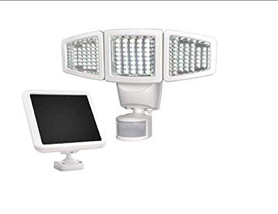 Sunforce 82123 120-LED Triple Head Solar Motion Light, 1000 Lumen Super Bright, 30 Detection Distance, 180 Degree Range, Fully Weather Resistant, Garage Mount, Home or Shed Exterior