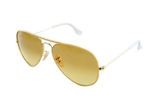 Metal Amarillo de sol Gafas Ban para Large Hombre Ray Aviator qvUAS1O
