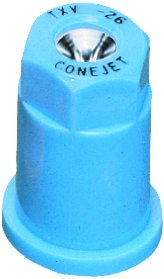 Pack of 12 - TeeJet TX-VS26 ConeJet Hollow Cone Spray Nozzle - VisiFlo - 0.43 GPM - Light Blue