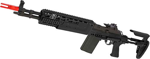 Evike WE-Tech M14 EBR Full Metal Airsoft Gas Blowback Sniper Rifle (Best Airsoft M14 Ebr)