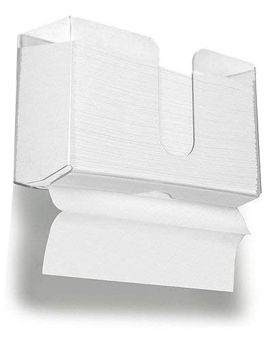 Cq acrylic Paper Towel Holder,Wall Mountable Paper Towel Dispenser for Z-fold C-fold or Multi-fold,Clear Acrylic, Pack of 1 (C-fold Dispenser)