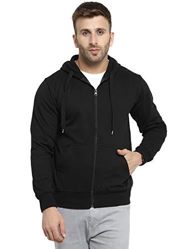Scott International Full Sleeve Hooded Unisex Black Sweatshirt