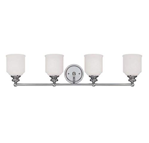 (Savoy House Melrose 4 Light Bath Bar in Polished Chrome)
