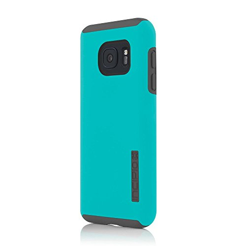 Samsung Galaxy S7 case, Incipio DualPro, Hard Shell Case with Impact-Absorbing Core Shock-Absorbing Impact-Resistant Dual-Layer Cover - Teal/Gray