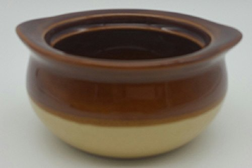 Set of 6 CAC Two Tone 12 oz Onion Soup Crock Brown and (Brown Crock)