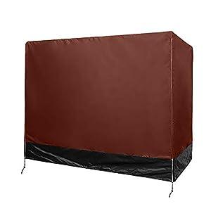 Cubierta de columpios de 3 plazas, fundas para sillas de jardín, cubierta de dosel de hamaca, polvo de refugio para muebles resistente a la lluvia UV HZC324