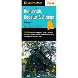 Huntsville, Decatur & Athens, AL Fold Map