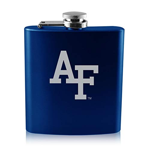 LXG, Inc. United States Air Force Academy -6 oz. Color Stainless Steel Flask-Blue (United States Air Force Academy Colors Blue)