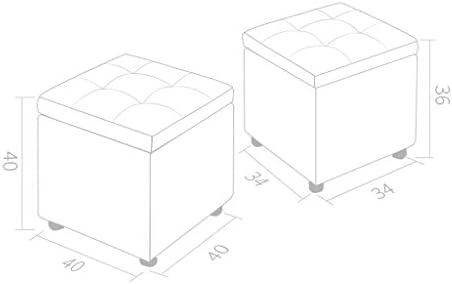 HLQW Tabouret de rangement simple et multifonctionnel Taille S