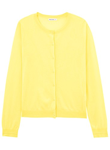 meters-bonwe-womens-solid-round-neck-long-sleeve-single-breasted-cardigan-yellow-l