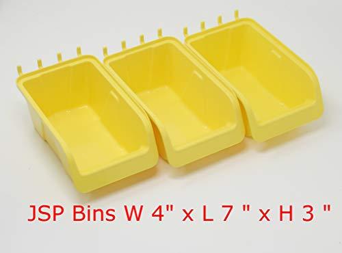 JSP Manufacturing Pegboard Bin Kit - Pegboard Parts Storage Craft Organizer Tool Peg Board Workbench Bins Accessories 5 PACK LARGE by JSP Manufacturing (Image #4)
