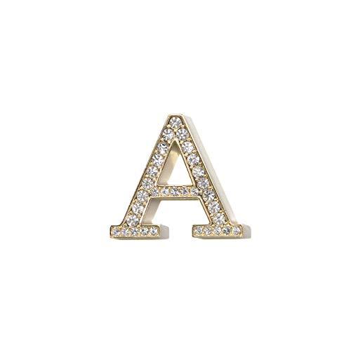Sonix Crystal Embellished Metal Alphabet Letter Sticker - Clear (A)