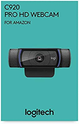 24c2fb0218d Logitech, C920 HD Pro Webcam for AMZ, Full HD 1080p Video Calling and  Recording, Dual Stereo Audio, Stream Gaming, Two Microphones, Small, Agile,  ...