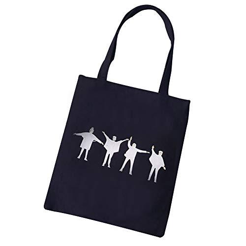S.Charma borsa moda giovani uomini borsa canvas bag nero multi pattern tessuto morbido Quattro Persone