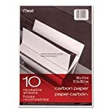 (3 Pack Value Bundle) MEA40114 Black Carbon Mill Finish Paper, 8-1/2 x 11, 10 Sheets