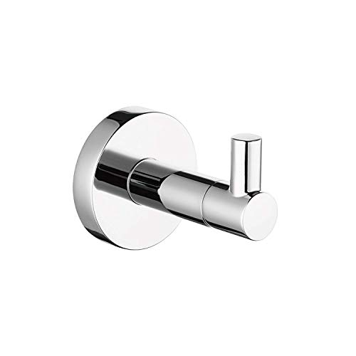 (Frascio Coat Hooks, Wall Mounted Coat Hooks for Coat Robe Hat Hooks -Chrome)