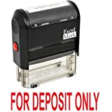 FOR DEPOSIT ONLY Self Inking Rubber Stamp - Red Ink (42A1539WEB-R)