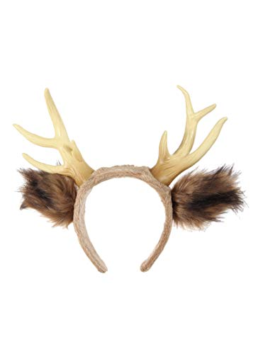 elope Deer Antlers with Ears Headband Brown/Beige