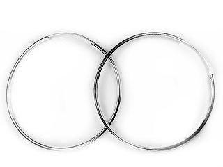 Amazon Com Large Sterling Silver 3 Endless Hoop Earrings 80mm