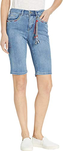 FDJ French Dressing Jeans Women's Statement Denim Olivia Bermuda Light Indigo 4 11