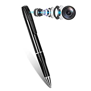 Flashandfocus.com 31M2BIII75S._SS300_ Spy Pen Camera, Hidden Mini Camera with 32GB SD Card, Spy Cam with 150 Minutes Battery Life, Camera Pen with Picture…