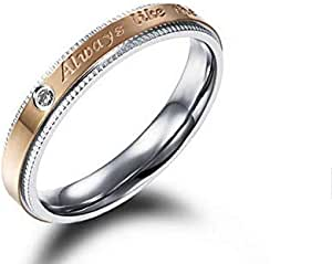 Women's Ring Gold & Silver Size 8