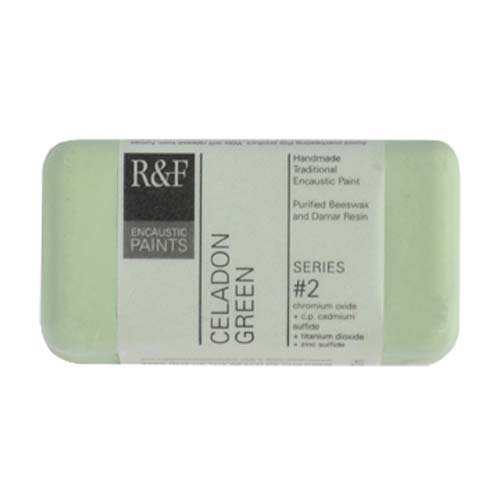 R&F Handmade Paints 102E Encaustic Paint 40ml, Celadon Green