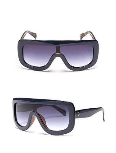 Leopardo Azul Mujeres New Gradient Sunglasses Square Diseñador Sun Shades Glasses de 2018 la Big marca Frame CUqB6Zxx