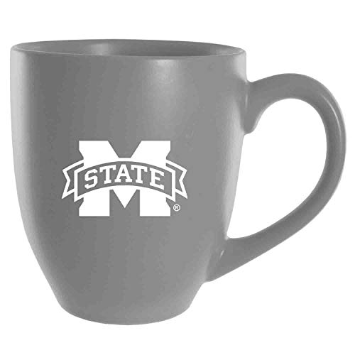 Mississippi State University -16 oz. Bistro Sold Ceramic Mug-Grey