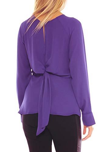 Idea Fiocco Con Scuro Georgette Sul Collection Dietro Magenta Camicia In Elegante Donna rxw47rHCq