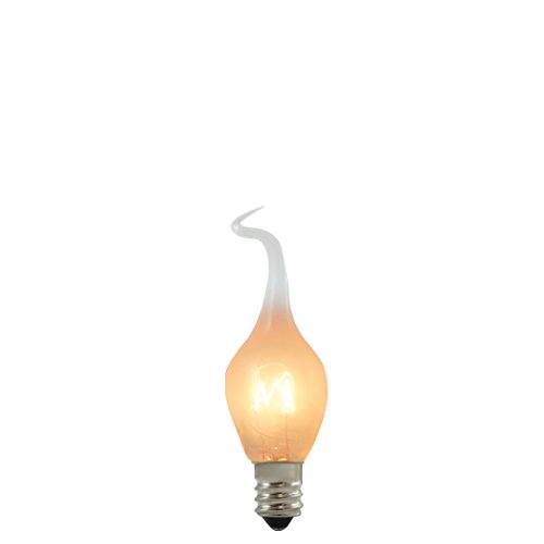 Bulbrite SF/6S6 6-Watt Incandescent Silicone Dipped S6 Chandelier Bulb, Candelabra Base [24 Pack]
