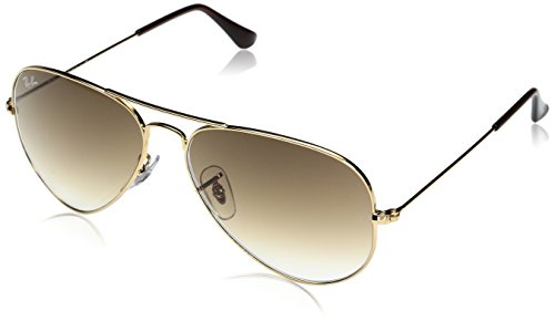 Ray-Ban Aviator Classic, Gold/ Crystal Brown Gradient, 58 - Brown Ray Gold Aviators And Ban