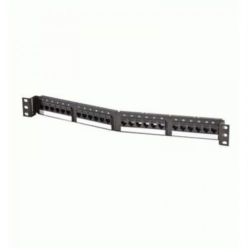Ortronics TechChoice Cat6 Angled 24-Port 1U Universal Patch Panel OR-SPA6U24