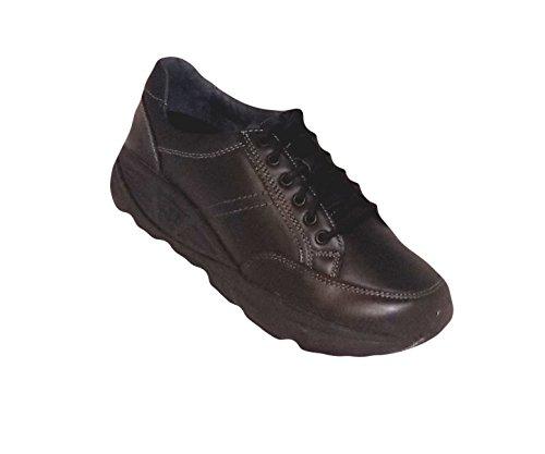 Xelero Athena Ii Vrouwen De Zwarte Leer Toevallige Comfortabel Wandelschoenen Zwart