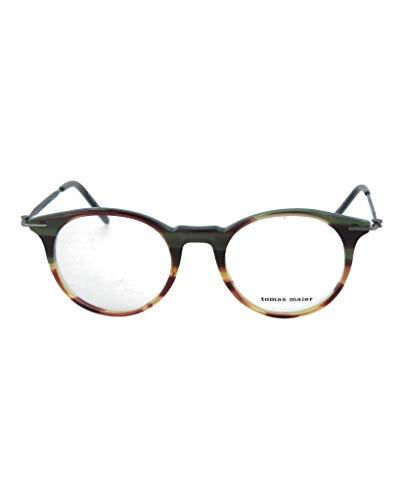 (Eyeglasses Tomas Maier TM 0015 O- 005 BROWN / RUTHENIUM)