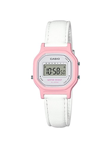 Casio Women's 'Classic' Quartz Resin Casual Watch, Color:White (Model: LA-11WL-4ACF)