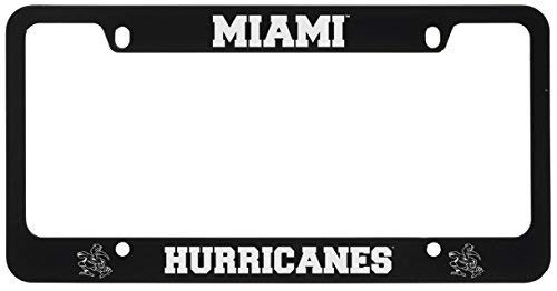 - University of Miami -Metal License Plate Frame-Black