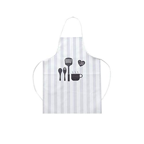 OGIN LUCO: Nordic Style Apron Caryoon Print Brief Adult Water and Oil Proof Apron Kitchen Baking Cooking Accessories Bib Aprons -